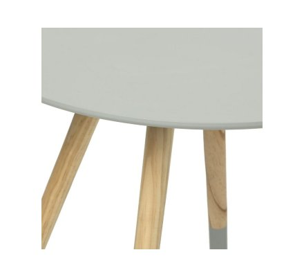 Table d'appoint, table à café en bois gris style scandinave H45xD48cm