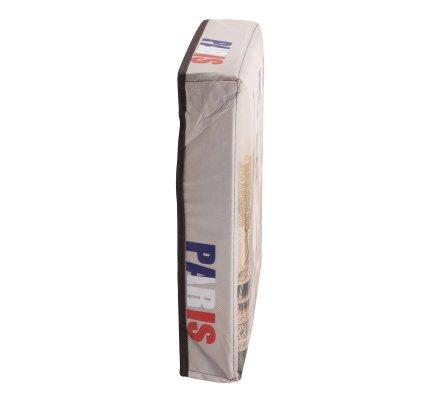 Pouf pliant, coffre de rangement intissé style parisien 30x30x30cm
