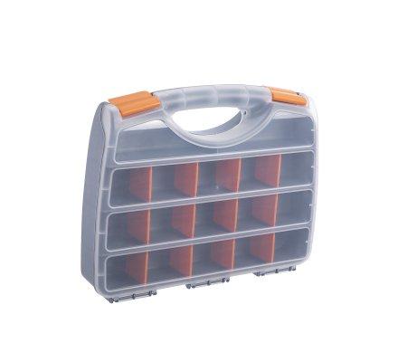Boite de rangement multi-compartiments modulables avec poignée 31,5x25cm