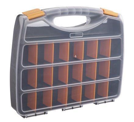 Boite de rangement multi-compartiments modulables avec poignée 38x31cm