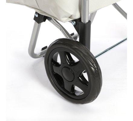 Chariot de course, poussette de marché coloris gris 40L