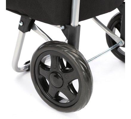Chariot de course, poussette de marché coloris noir 40L