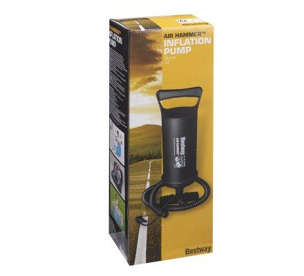 Gonfleur, pompe à air manuelle avec 3 adaptateurs gonflage rapide 1,85 l / cycle