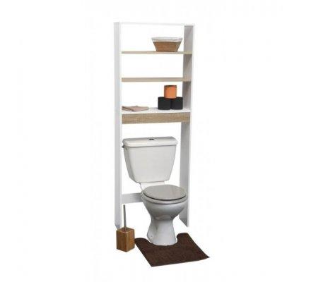 Meuble dessus WC toilettes avec 3 étagères H169cm x L 60cm x p 21,5cm