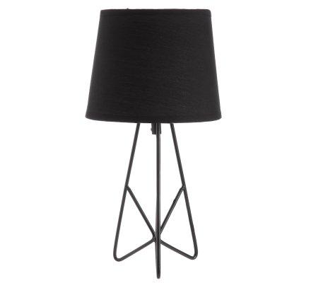 Lampe de chevet design métal filaire noir H 36cm