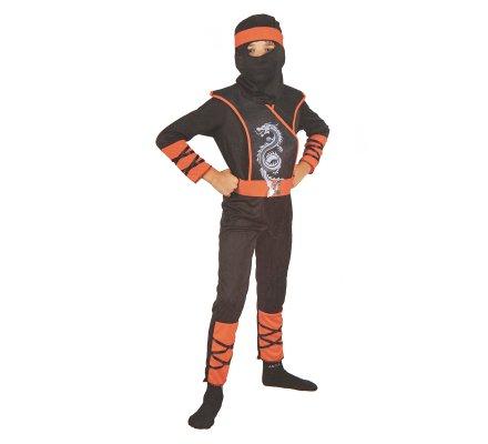 Déguisement enfant ninja rouge et noir 10-12 ans