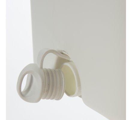 Seau essoreur 2 en1 avec balai éponge ultra absorbant, 2 compartiments : humide et sec.