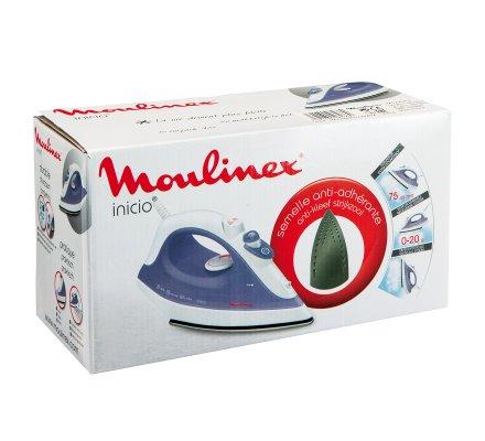 Fer à repasser vapeur Moulinex Inicio semelle acier inoxydable cordon XL 1800W Violet