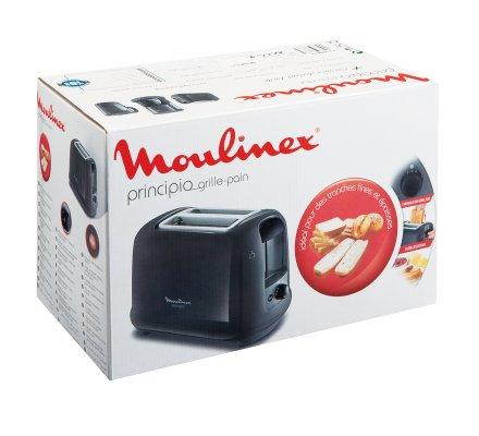 Grille-pain Moulinex Principio 2 fentes noir 7 niveaux de grillage