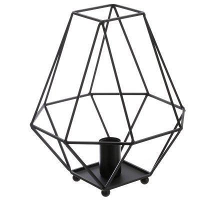 Lampe à poser design industriel métal noir 33cm