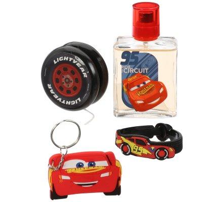 Coffret CARS 4 accessoires eau de toilette/yoyo/bracelet/porte-clés