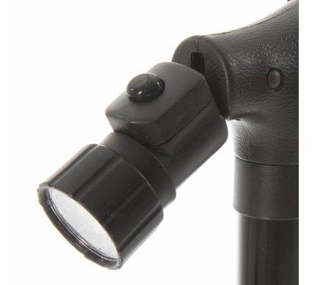 Canne sécurité pliable base pivotante 4 points d'appui et lumière intégrée