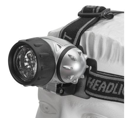 Lampe frontale à 7 Led taille unique réglable, triple sangle élastique
