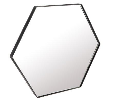Miroir design style industriel en métal forme hexagonale 40cm