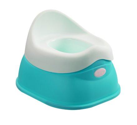 Pot pour bébé avec réservoir amovible coloris bleu et blanc