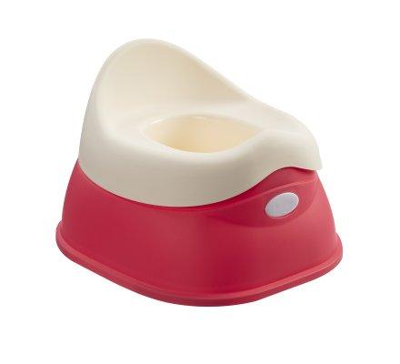 Pot pour bébé avec réservoir amovible coloris rose et blanc