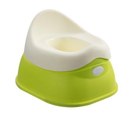 Pot pour bébé avec réservoir amovible coloris vert et blanc