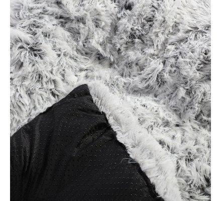 Coussin pour chien effet fourrure 76x54cm blanc