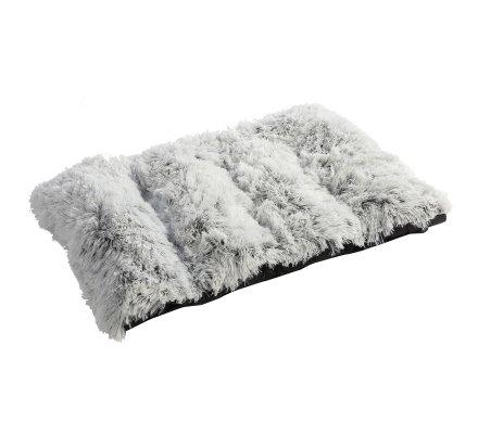 Coussin pour chien effet fourrure 100x72cm blanc