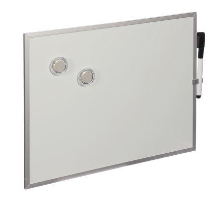 Tableau effacable aluminium + marqueur et magnets 28x35cm