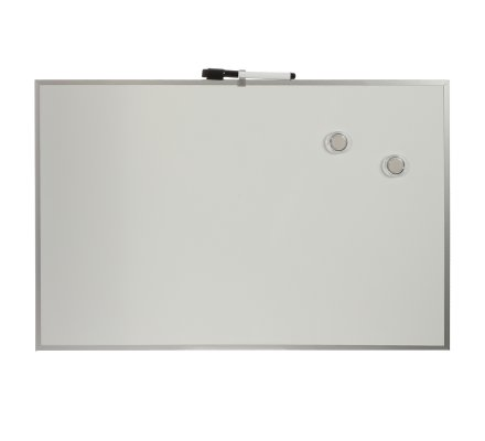 Tableau effacable aluminium + marqueur et magnets 40x60cm