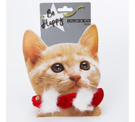 Collier de Noël pour chat élastique avec clochette