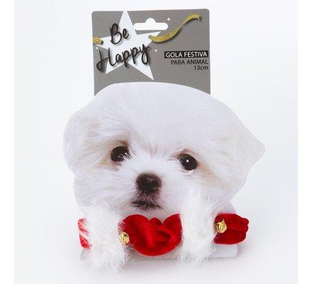 Collier de Noël pour chien ou chat petite taille élastique avec clochette