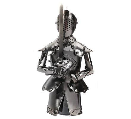 Porte bouteille, présentoir déco en métal chevalier H33cm