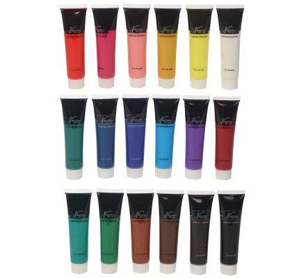 Set de 18 tubes de peinture acrylique premium 18x36ml Nassau