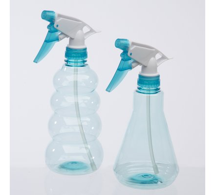 Lot de 2 pulvérisateurs, spray 2 formes coloris bleu