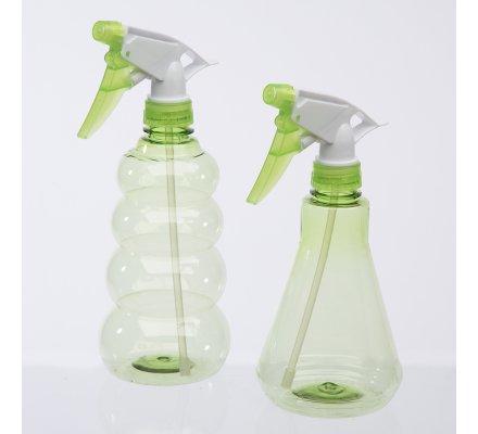 Lot de 2 pulvérisateurs, spray 2 formes coloris vert