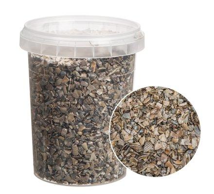 Petit seau de concassé de coquillages naturels brillants pour décoration 300gr