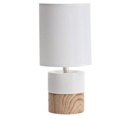 Design 29x14cm Lampe Chevet Blanche Et Bois De Ceramique Imitation rCxoQdshBt