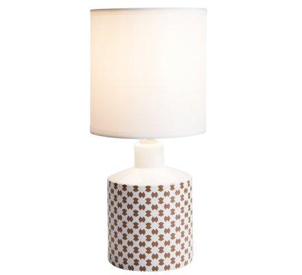 Lampe de chevet GISELE céramique motif marron 29x14cm
