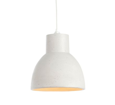 Suspension STUDIO 25cm BLOCK Fiberstone - Blanc