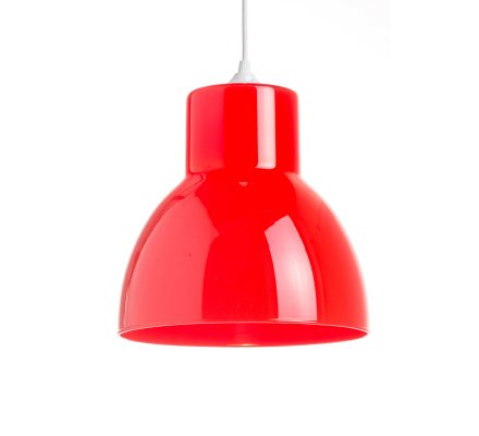 Suspension STUDIO 25cm Verre - Rouge