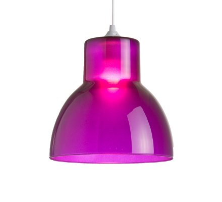 Suspension STUDIO 25cm Verre - Violet