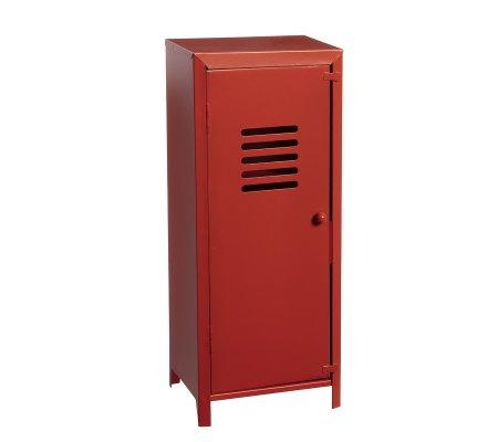 Petite armoire, casier vestiaire métallique déco coloris rouge H 32cm