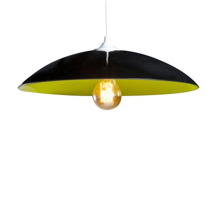 Suspension RONDO BICOLORS en verre - Noir/Anis