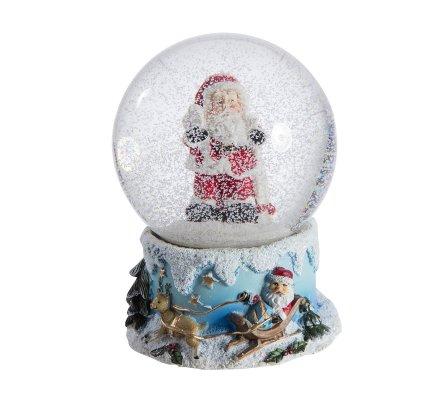 Boule à neige musicale père noël 16cm