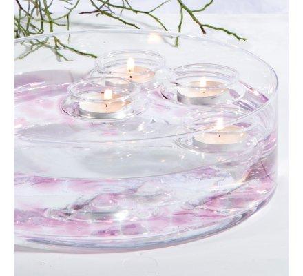 Lot de 4 Flotteurs pour bougies chauffe-plats en verre