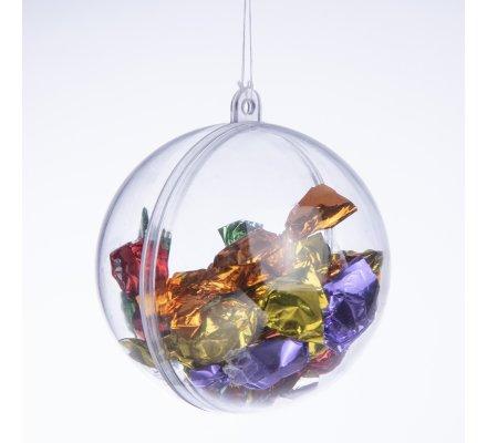 Lot de 4 boules transparentes à garnir soi-même