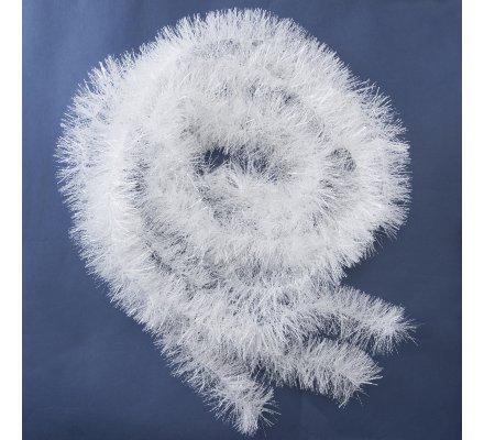 Lot de 3 guirlandes décoration sapin blanches 2 mètres