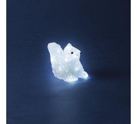 Ecureuil lumineux 13 x 8 x 11,5cm à piles