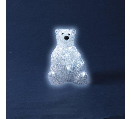Ours lumineux à Led 13x11,5x16cm à piles