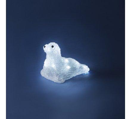 Phoque lumineux 16,5 x 10 x 11,5cm à piles