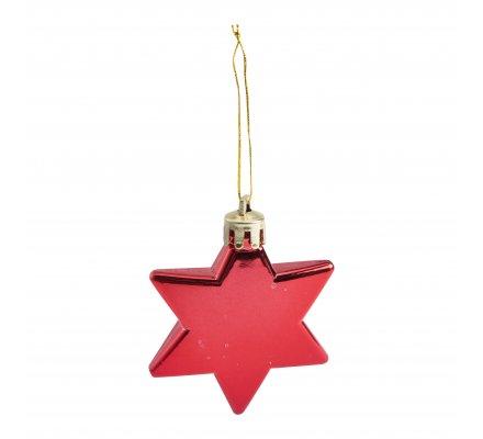 Lot de 20 étoiles rouges déco sapin