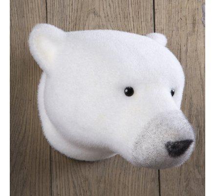 Tête d'ours déco 31cm à accrocher au mur
