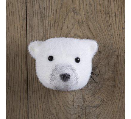 Tête d'ours déco 16cm à accrocher au mur