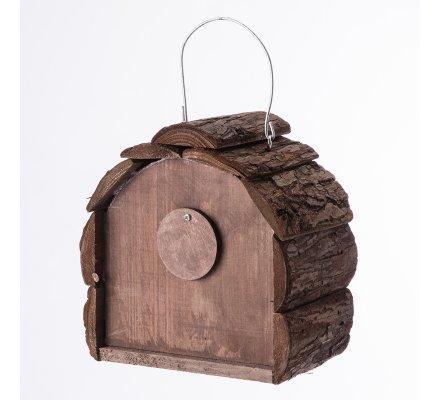 Cabane, maison à oiseaux mangeoire à poser ou suspendre avec ouverture à battant
